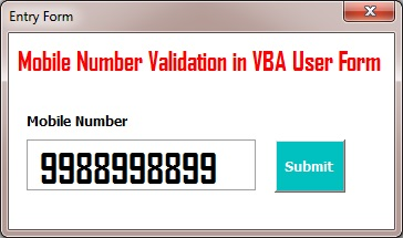 Mobile Number Validation