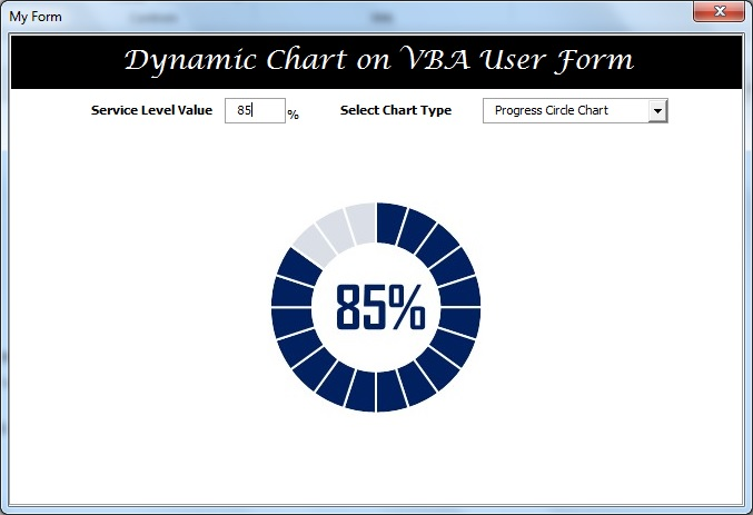 Progress Circle Chart on User Form