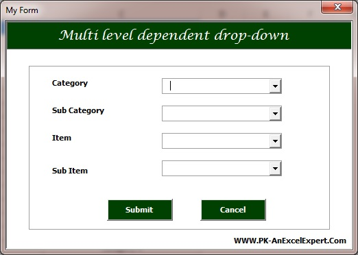 Dependent Drop-Down in VBA User Form