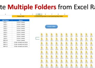 Create Multiple Folder