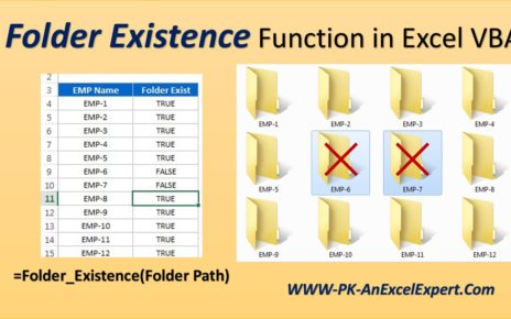 Folder Existence Function