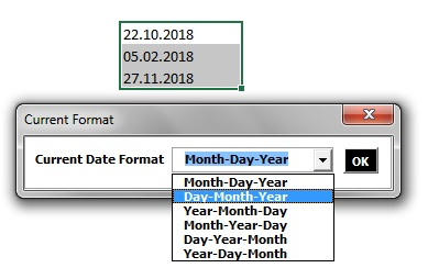 Text to date window