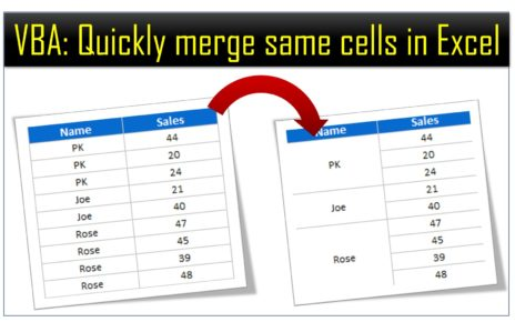 Merge Same Cells
