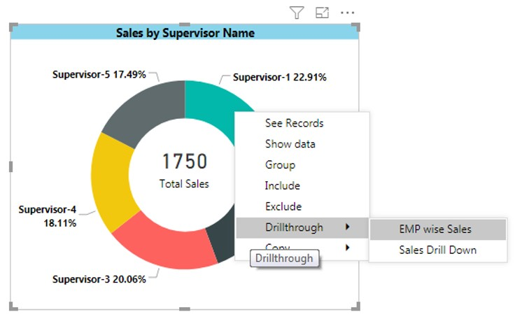 Drillthrough in Power BI