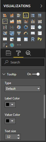 Customize the tooltip