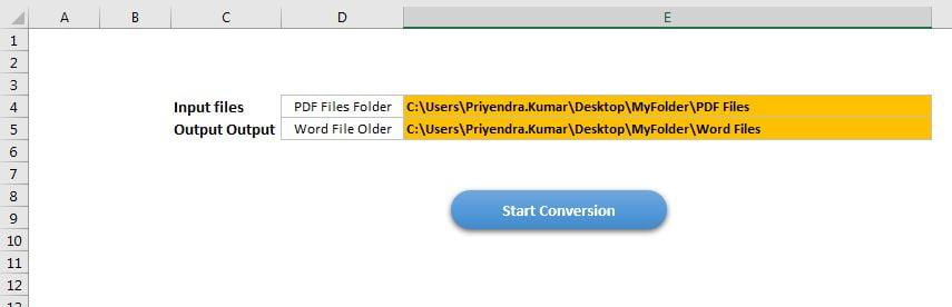 Put the Folder Path on Setting Sheet