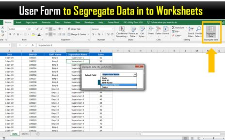 Segregate data into Worksheets