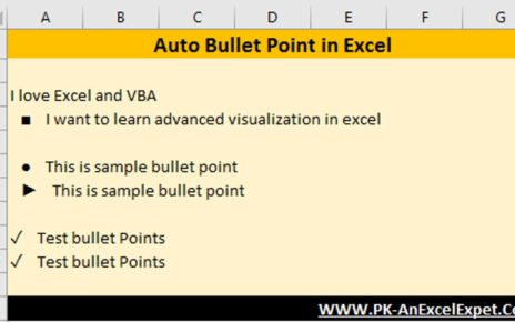 Auto Bullet Points in Excel