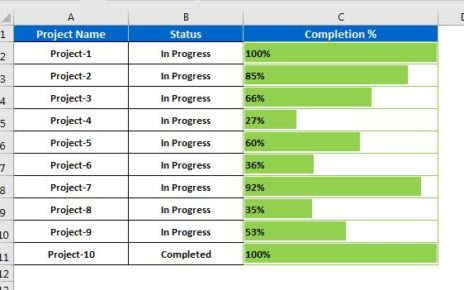 Progress Bar in Excel cell