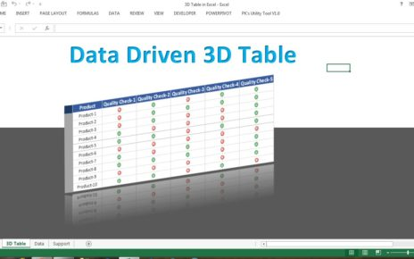 3D Table in Excel