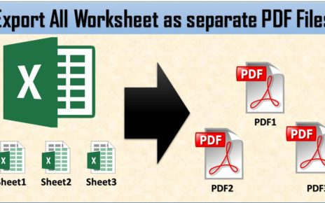 Export All Worksheet as PDF