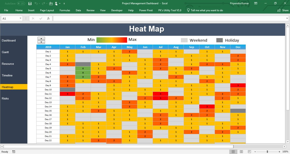 Heat Map Sheet Tab