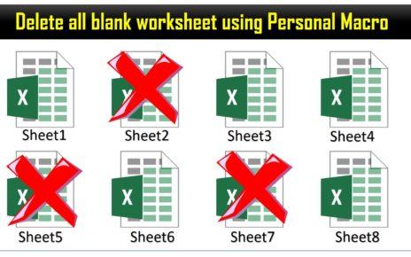 Delete all worksheet