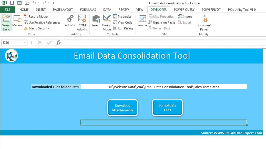 Data consolidation Tool