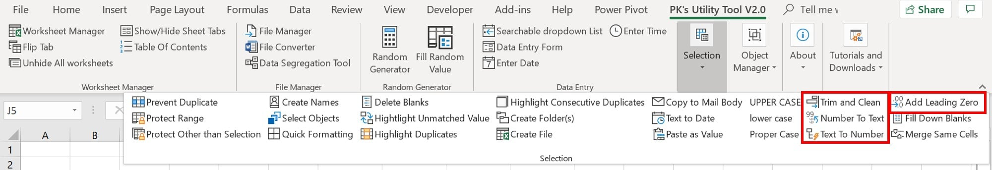 New Features in PK's Utility Tool