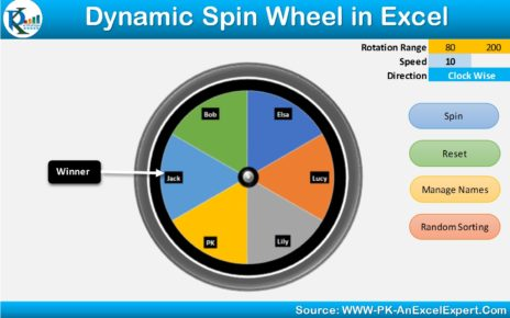 Spin Wheel in Excel