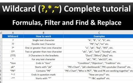 Wildcard in Excel