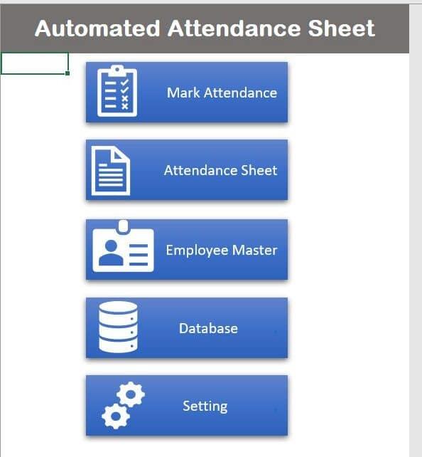 Automated Attendance Sheet