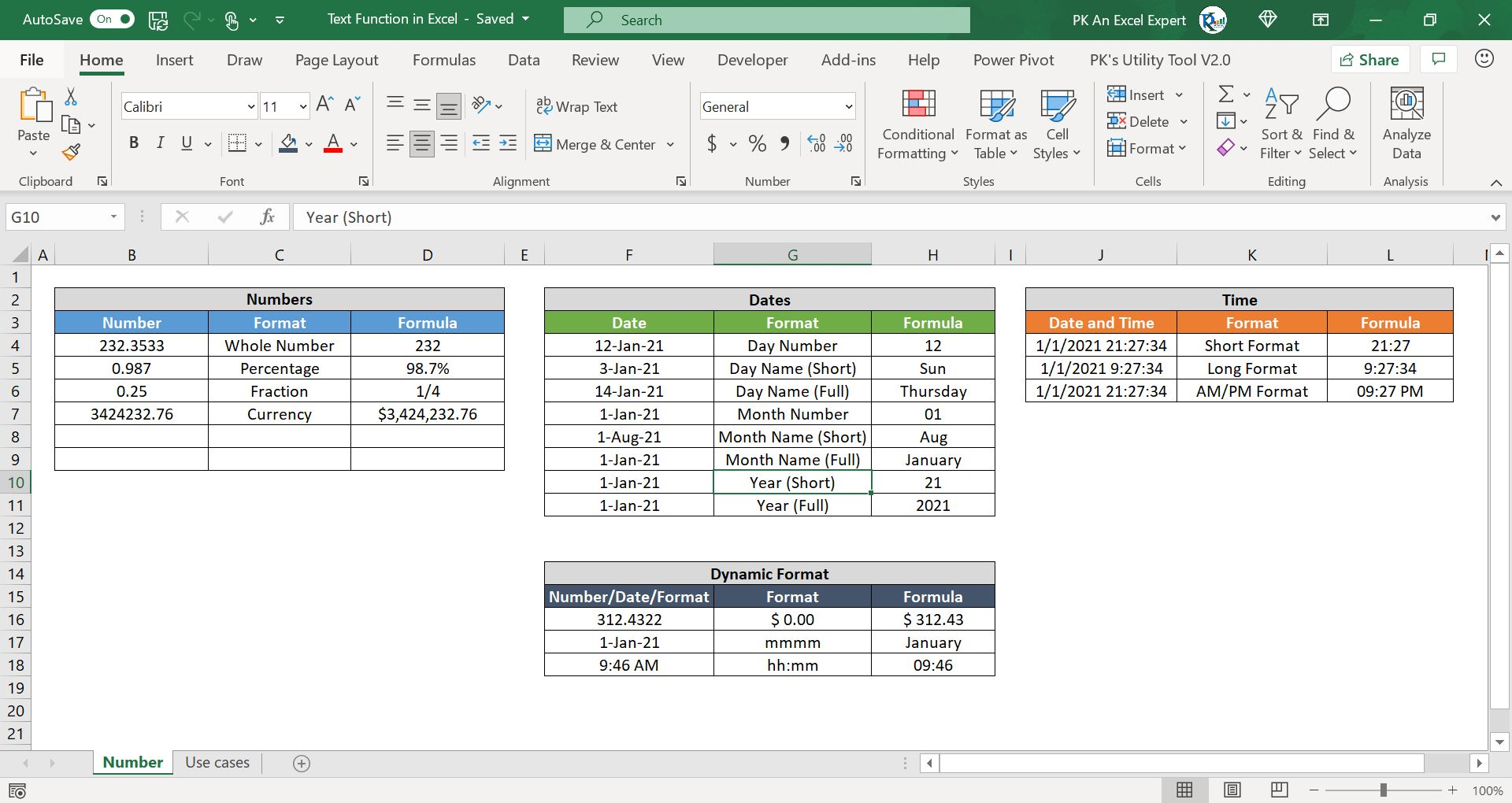 TEXT Function in Excel