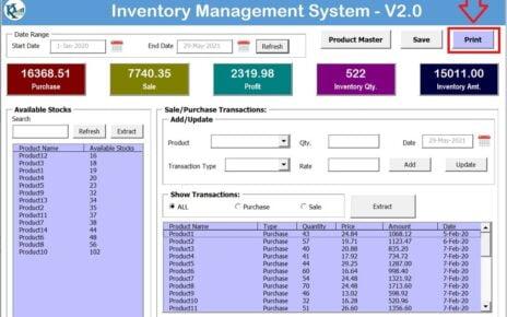 Inventory Management System V2.0