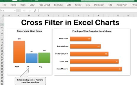 Cross Filter in Excel Chart