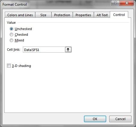 Format Control Window