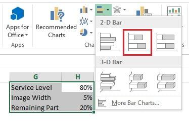 Insert 2D Stacked Bar Chart