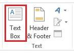 Insert a Text Box