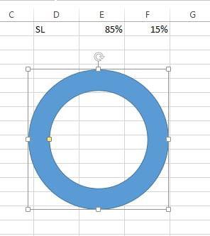 Decrease the doughnut width