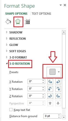 Format Shape window