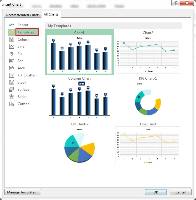 Chart Templates in Excel - PK: An Excel Expert