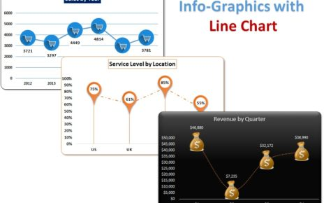 Info-graphics with Line chart