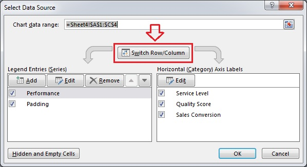 Select Data Source window