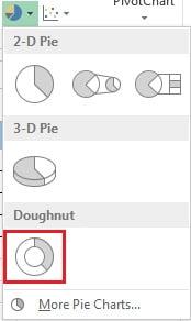 Insert Doughnut Chart