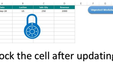 Lock the Cell after updating