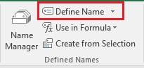 Define Name option