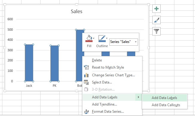 how to change chart labels in excel