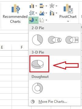Insert a 3D pie chart