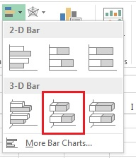 Insert 3D stacked bar chart