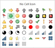 Icon List in Excel 2013