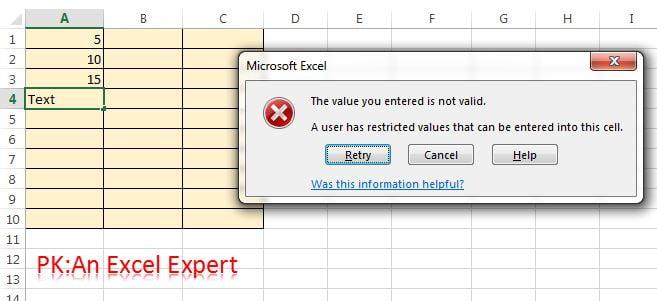 Invalid Entry Error