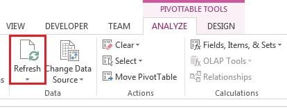 Refresh Pivot table