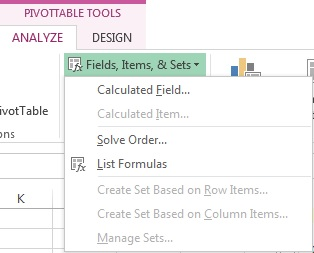 Calculated Field Option in Analyze Tab