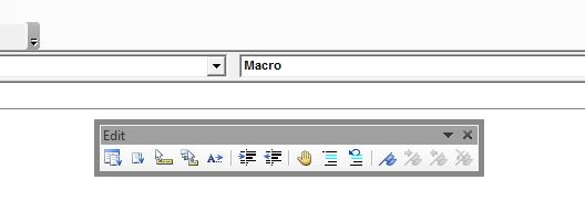 Edit Window in Visual Basic Editor