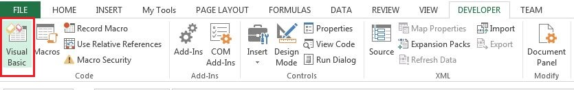 Visual basic Editor option