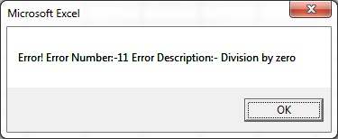 Error Handling in VBA